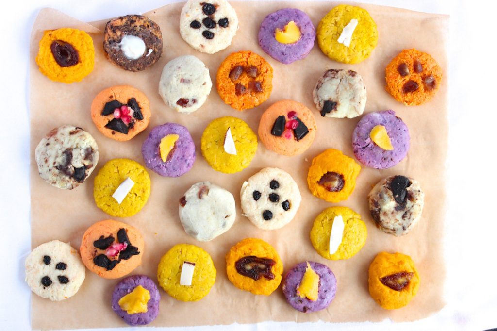 Root Cookies, all different colours and flavours